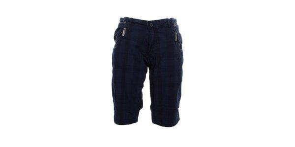 Pánské tmavě modré kraťasy Exe Jeans s kapsami na zip