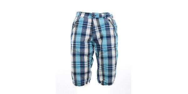 Pánské kostkované kraťasy Exe Jeans s kapsami na zip
