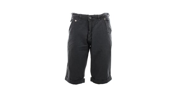Pánské tmavě šedé kraťasy Exe Jeans