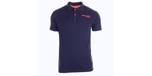 Pánské tmavě modré tričko s límečkem Exe Jeans