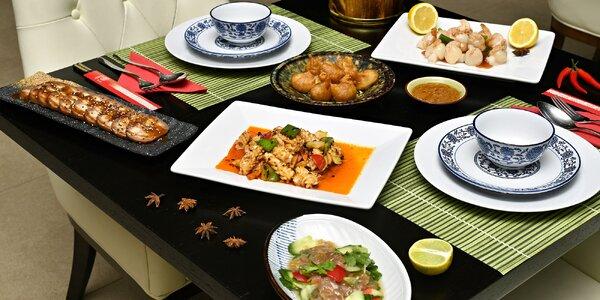 Sečuánské menu pro 2: maso, vege i deluxe verze