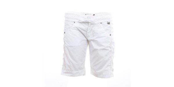 Dámské bílé kraťasy s mašlí Exe Jeans