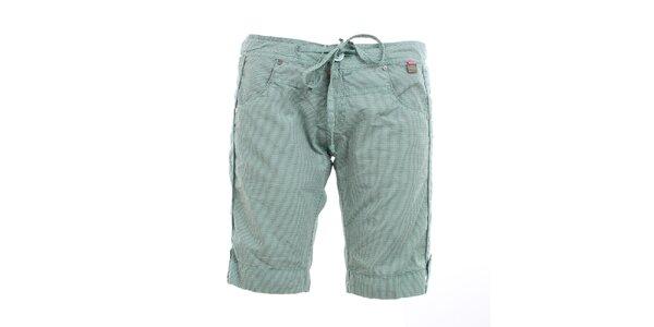 Dámské mintově zelené šortky s kostičkami Exe Jeans