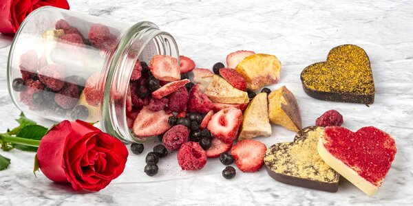 MiXniSi: čoko srdíčka s lyofilizovaným ovocem