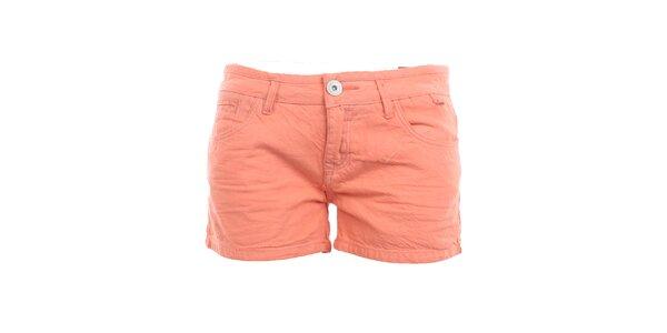Dámské korálové bavlněné šortky Exe Jeans