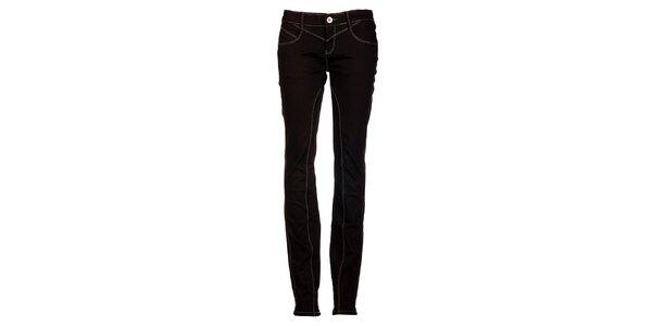 Dámské úzké černé džíny s prošíváním Exe