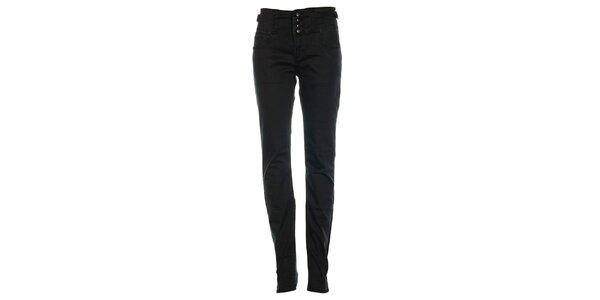 Dámské černé džíny s třemi knoflíky Exe