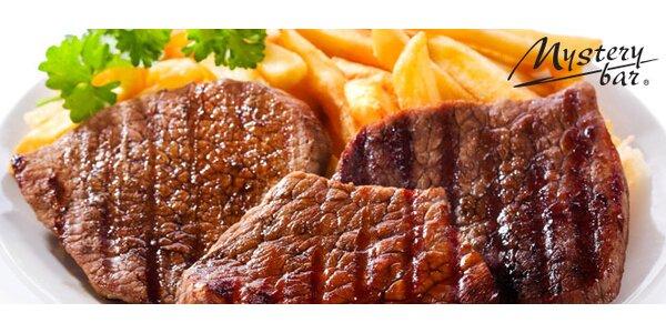 Mix grill a dvě přílohy. 500 g šťavnatého masa!