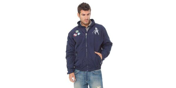 Pánská tmavě modrá bunda Valecuatro