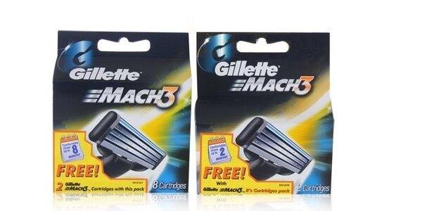Gillette Mach3 náhradní hlavice 8 + 2