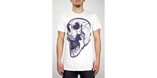 Pánské bílé tričko s lebkou Judge&Jury