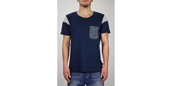 Pánské tmavě modré námořnické tričko Judge&Jury