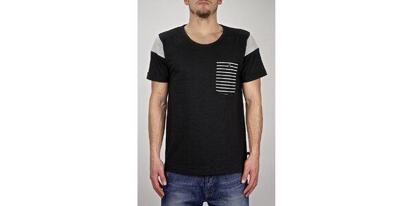 Pánské černé námořnické tričko Judge&Jury