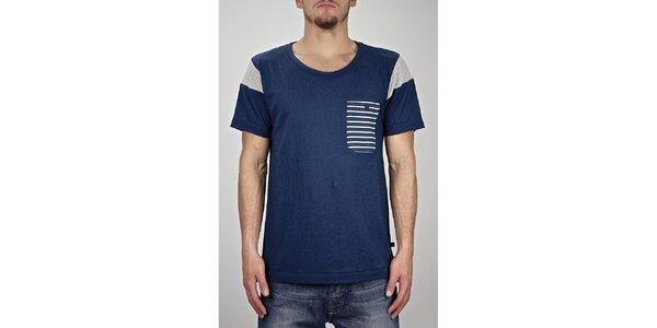 Pánské modré námořnické tričko Judge&Jury