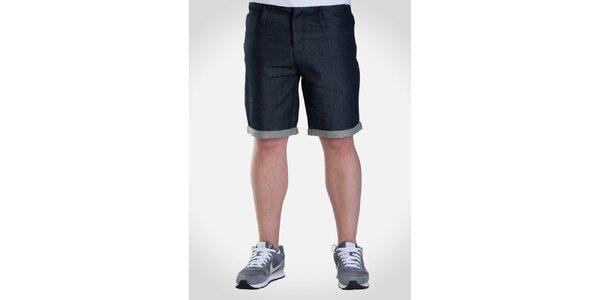 Pánské tmavé džínové šortky Skank