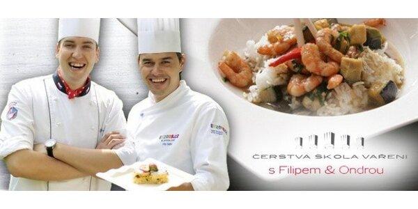 Kurzy vaření s populárními kuchaři Filipem a Ondrou