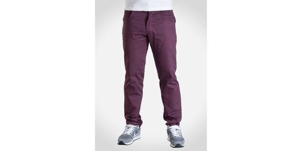 Pánské vínově fialové kalhoty Skank