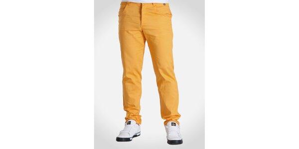 Pánské oranžové kalhoty Skank