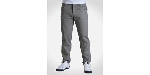 Pánské světle šedé kalhoty Skank