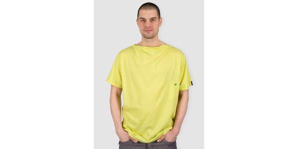 Pánské žluto-zelené tričko Skank