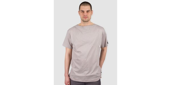 Pánské světle béžové tričko s knoflíkem Skank