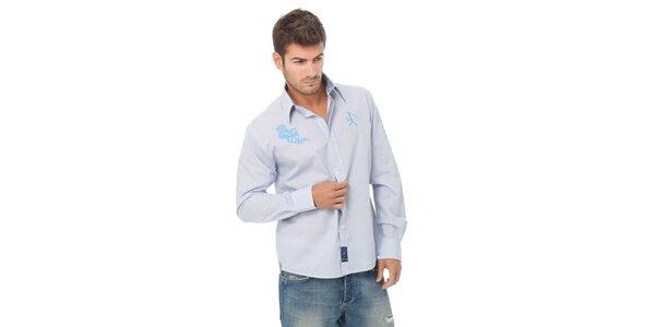 Pánská světle modrá kostičkovaná košile Valecuatro