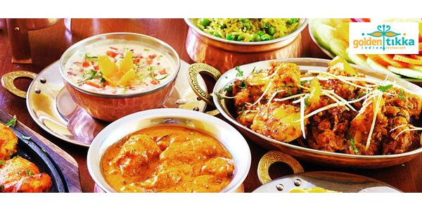 5chodové indické menu pro dva včetně nápojů