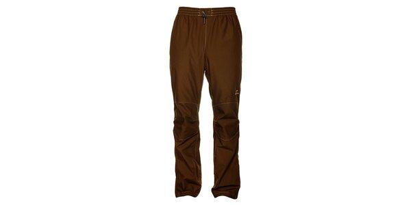 Pánské tmavě hnědé turistické kalhoty Hannah