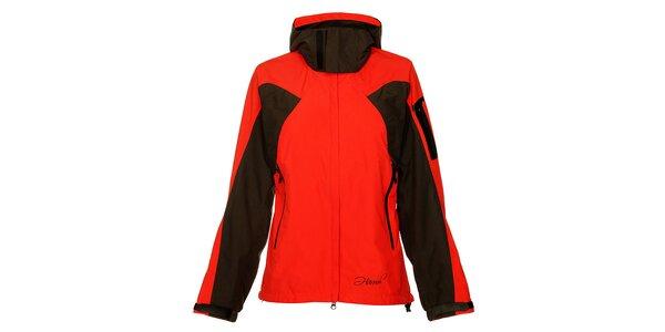 Dámská červeno-černá sportovní bunda Hannah s membránou