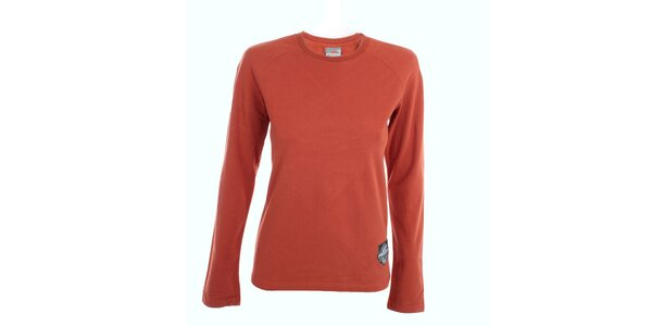 Dámské cihlově červené tričko s dlouhý rukávem Hannah