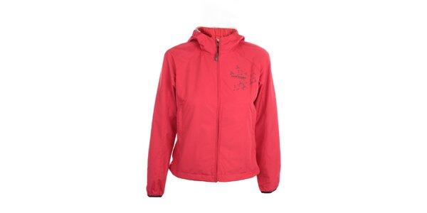 Dámská lehká červená bunda s kapucí Hannah