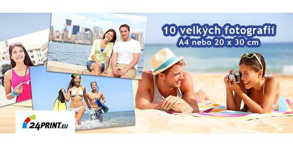10 velkoformátových fotek A4 za 10 Kč!