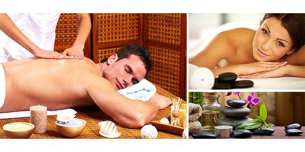Královská masáž zad a šíje - Klasická, Hot Stones a Lomi Lomi