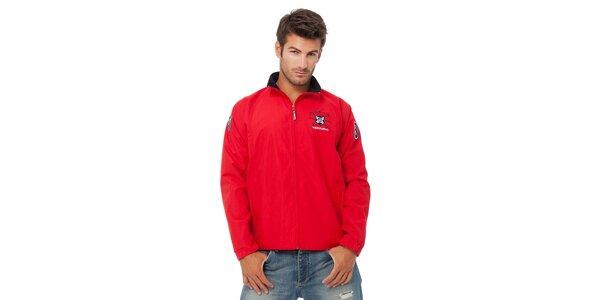 Pánská červená sportovní bunda Valecuatro