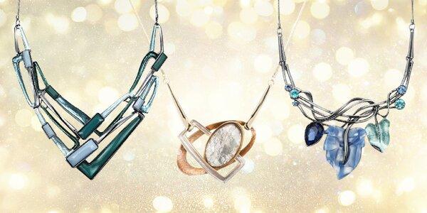 Krásné ručně malované náhrdelníky s pryskyřicí