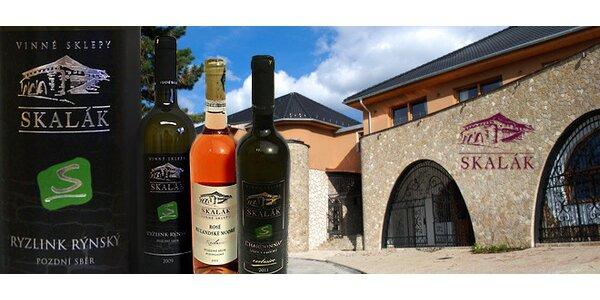6 přívlastkových vín ze sklepa Skalák