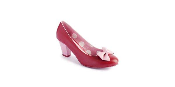 Dámské červeno-růžové lodičky Lola Ramona s mašlí