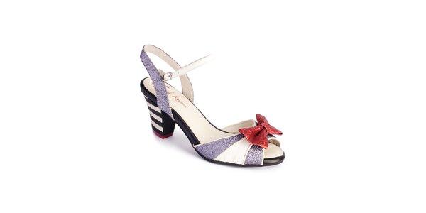 Dámské bílo-stříbrné sandály Lola Ramona