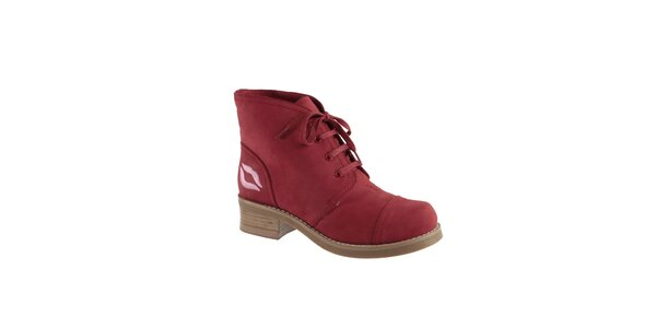 Dámské červené kotníkové boty s pusinkou Lola Ramona