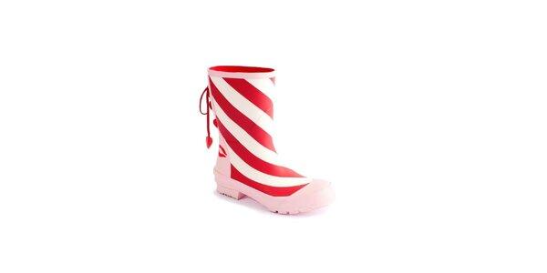 Dámské červeno-bílo-růžové holínky Lola Ramona