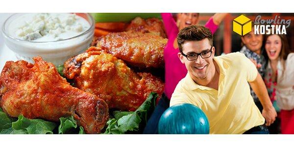 Hodina bowlingu a 1 kg pečených kuřecích špalíčků
