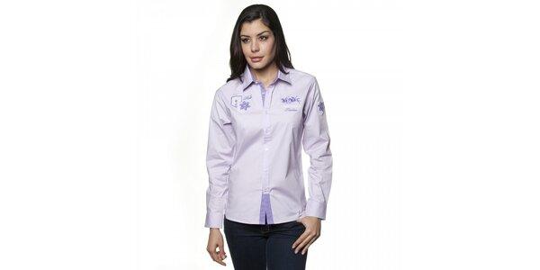 Dámská šeříková košile Valecuatro s výšivkou
