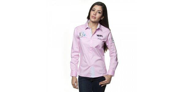 Dámská světle růžová košile Valecuatro s výšivkou