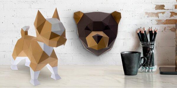 Papírové dekorace: složte si zvíře na stůl i stěnu