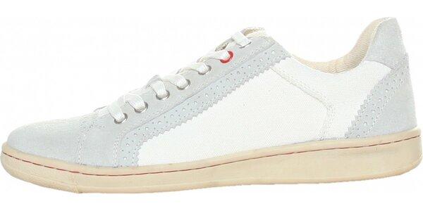 Pánské bílo-šedé tenisky Avirex