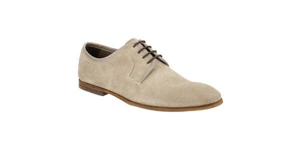 Pánské béžové semišové vycházkové boty Clarks