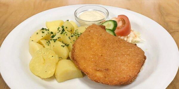 Vepřový či kuřecí řízek nebo smažený sýr k obědu