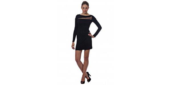 Dámské černé mini šaty Miss Sixty