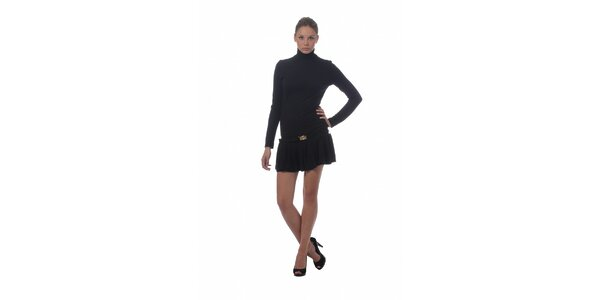 Dámské černé šaty Miss Sixty s rolákem