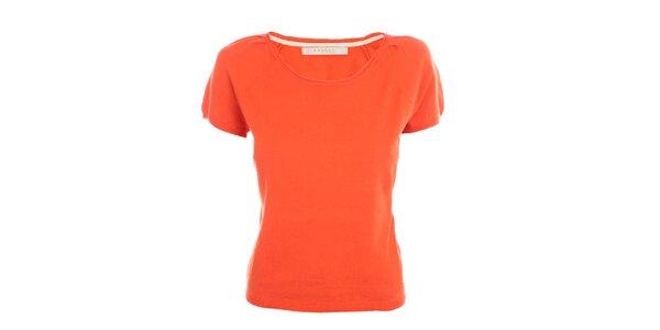 Dámské korálově červené tričko Nougat London